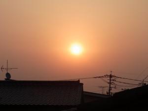 神埼の朝日